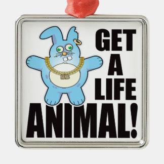 Animal Bad Bun Life Metal Ornament