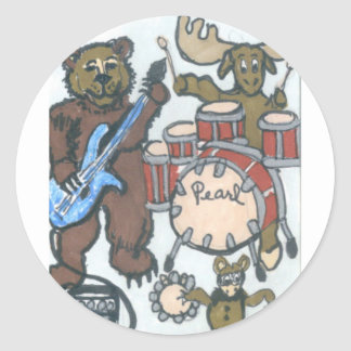 Animal Band Classic Round Sticker
