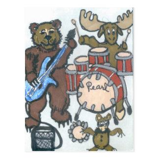 Animal Band Postcard