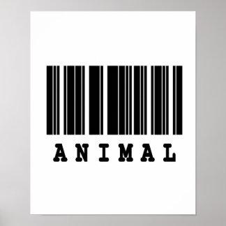 animal barcode design poster
