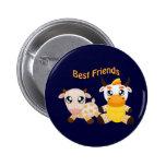 Animal Best Friends Buttons