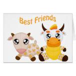 Animal Best Friends Greeting Card