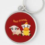 Animal Best Friends Keychain
