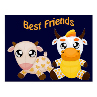Animal Best Friends Postcard