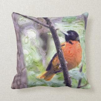 Animal Bird Baltimore Oriole Pillow