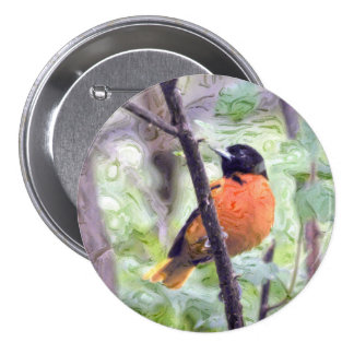 Animal Bird Baltimore Oriole Pinback Button