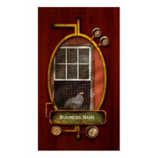 Animal - Bird - Chicken in a window Business Card