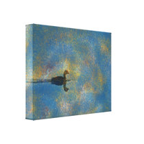 Animal Bird Duck in The Distance Canvas Print