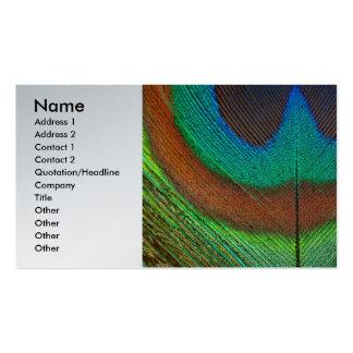 Animal - Bird - Peacock Feather Business Card