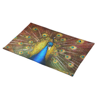 Animal - Bird - Peacock proud Cloth Placemat