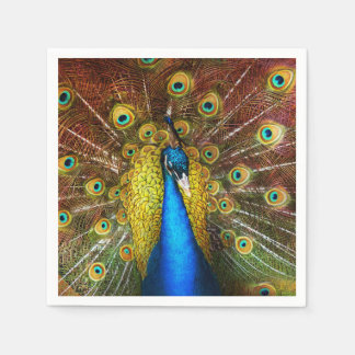 Animal - Bird - Peacock proud Paper Napkin