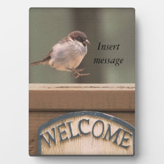 Animal Bird Sparrow hopping happily Display Plaques