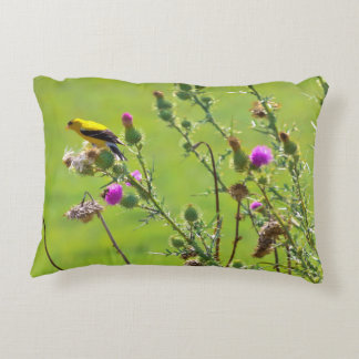 Animal - Bird - Thistle me a song Accent Pillow