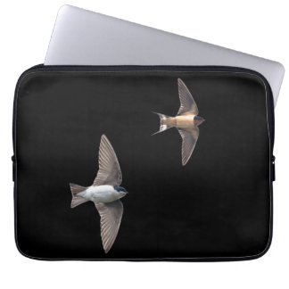 Animal Bird Tree Swallow and Barn Swallow Laptop Sleeve
