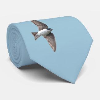 Animal Bird Tree Swallow and Barn Swallow Neck Tie