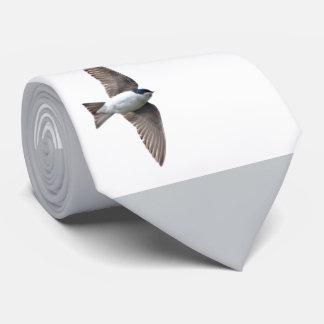 Animal Bird Tree Swallow and Barn Swallow Tie