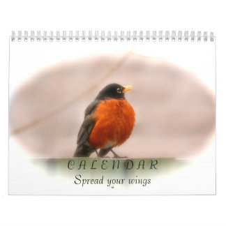 Animal Birds Spreading Their Wings Calendar