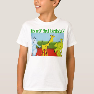 animal birthday party template for child T-Shirt