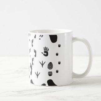animal box footmark coffee mug