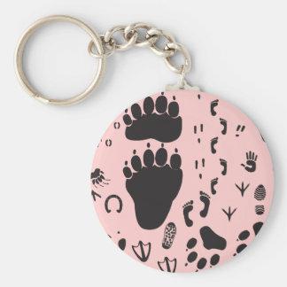 animal box footmark keychain