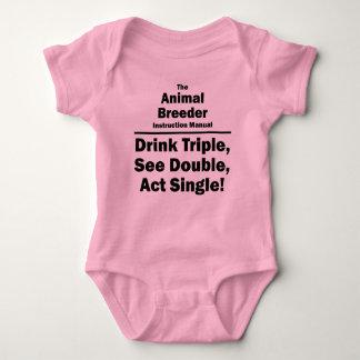 animal breeder baby bodysuit