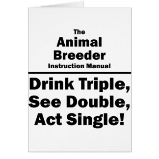 animal breeder card
