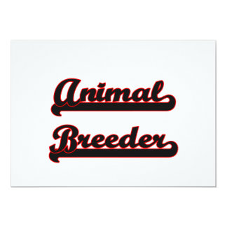 Animal Breeder Classic Job Design 5x7 Paper Invitation Card