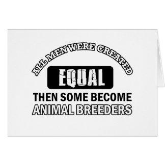 Animal Breeders designs Card