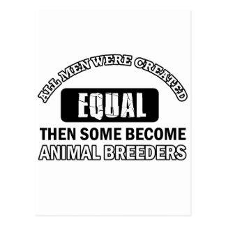 Animal Breeders designs Postcard