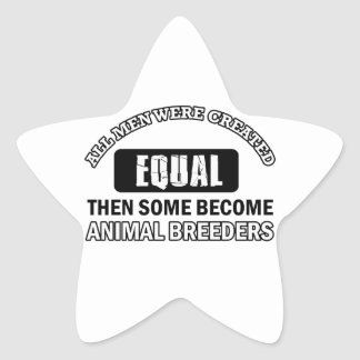 Animal Breeders designs Star Sticker