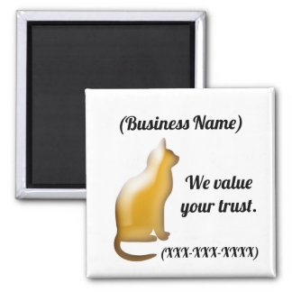 Animal Business We Value Your Trust Promotional Magnet