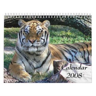 Animal Calendar, 2008 Calendar