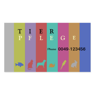 Animal care business card templates