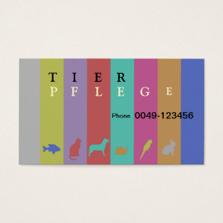 Animal care business card