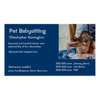 Animal Caretaker Business Card Templates