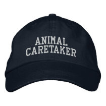 Animal Caretaker Embroidered Baseball Hat