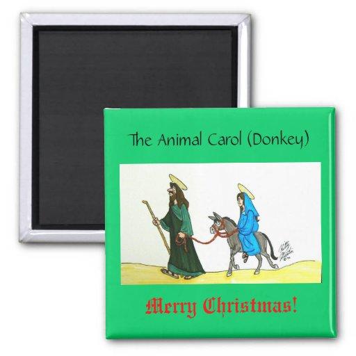 Animal Carol (Donkey) Fridge Magnets