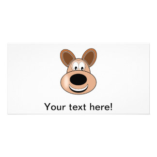 Animal cartoon custom photo card