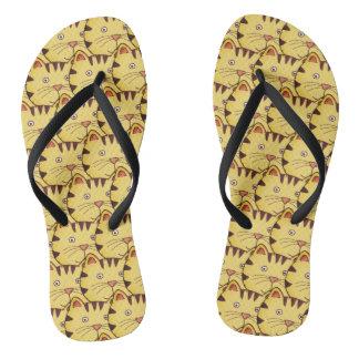 Animal cat flip flops