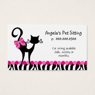 Animal Cat Sitter Business Card Zebra