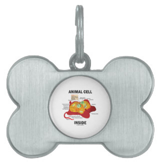 Animal Cell Inside Biology Eukaryotic Cell Pet ID Tags