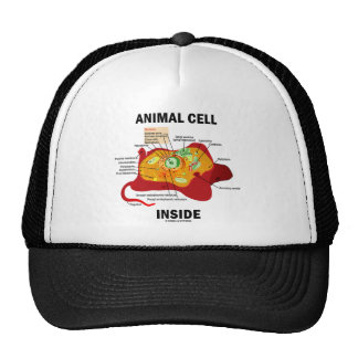 Animal Cell Inside (Eukaryote Cell Biology) Trucker Hat