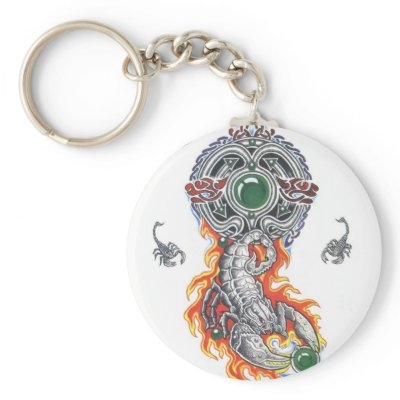 animal celtic scorpion tattoo key chain by tattoostyle celtic scorpions