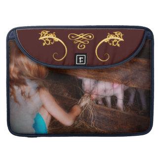 Animal - cerdo - cochinillos de alimentación fundas macbook pro