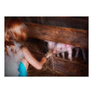 Animal - cerdo - cochinillos de alimentación invitacion personal