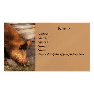 Animal - cerdos - enlaces de familia tarjetas de visita