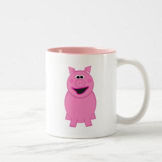 Animal Character Two-Tone Coffee Mug