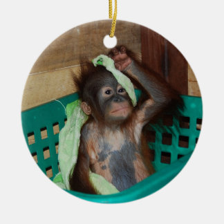 Animal Charity Donations Double-Sided Ceramic Round Christmas Ornament