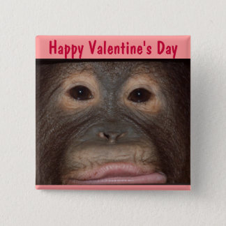 Animal Charity Happy Valentine's Day Pinback Button