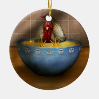 Animal - Chicken - Chicken Soup Ceramic Ornament